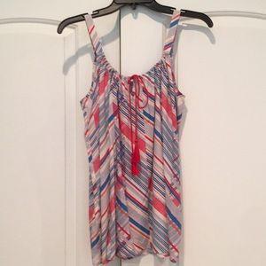 CAbi Tassel Tank (GREAT TOP FOR the 4th of JULY)